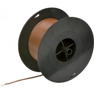 Кабель электрический 2х0.75 50м на катушке красно-коричневый FLK, шт.
