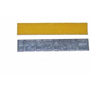 """Грузик балансировочный свинцовый """"тонкий"""" на желтой ленте Clipper, шт 60 гр (5+10 гр x 4) 50/50"""