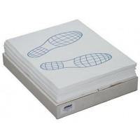 """Коврики бумажные на пол 40.5х52 см двухслойные """"Следы ног"""" 500шт"""