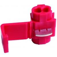 Соединитель-ответвитель кабеля гильотинного типа 0.50-1.5 мм красный, шт 100/100