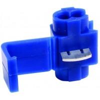 Соединитель-ответвитель кабеля гильотинного типа 0.75-2.5 мм синий, шт 100/100
