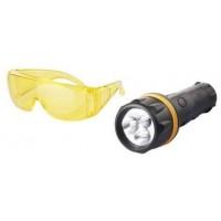 Набор для поиска утечек в системе кондиционирования (очки + УФ-фонарик)