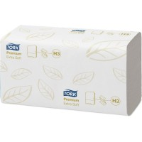 Полотенца листовые ZZ Tork Premium H3 2сл. 200л. 23х23см белый (уп. 15шт.)