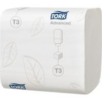 Бумага туалетная листовая Tork Advanced T3 2сл. 242л. 19х11см белый (уп. 36шт.)
