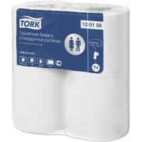 Бумага туалетная в рулоне Stand Tork Advanced T4 184л. 2сл. 23мх9.5см белый (уп. 24х4шт.)