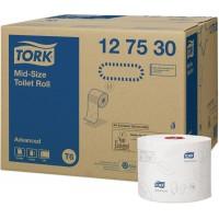 Бумага туалетная в компакт-рулоне AutoShift Tork Advanced T6 2сл. 100мх9.9см белый (уп. 27шт.)