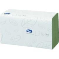 Полотенца листовые ZZ Tork Advanced H3 2сл. 250л. 25х23см зеленый (уп. 15шт.)