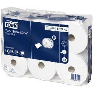 Бумага туалетная в рулоне Tork SmartOne 1150л., 2сл., 207мх13,4см белый (уп.-6шт)