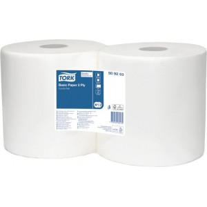 Бумага протирочная 2-х слойная Tork 330 W1/W2 25х33 см 800 л белая, рулон 264 м 2/2