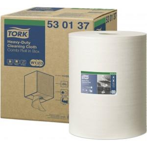 Материал протирочный нетканый Combi TORK Premium 530 W1/W2 280л. 32мх38см белый